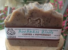 Awaken Zing. Coffee Mint. Soap.Handcrafted. by PurringBuddha