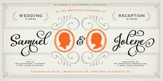the perfect, overflowing set, for wedding invitations  | Adorn - Webfont & Desktop font « MyFonts