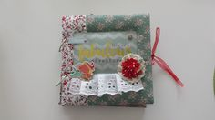 Scrapbooking, Album, Fotoalbum, Türkis, Rot Handmade