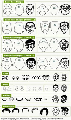 How to draw cartoon faces