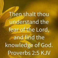Proverbs 2:5 KJV