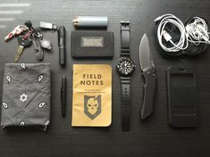 Impressive EDC gear. // would like to pick up the field notes or a rite in the rain notepad.