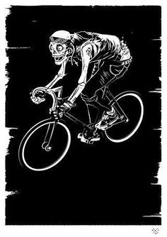 Creative Illustration, Matt, Taylor, Punk, and Fixie image ideas & inspiration on Designspiration Zombi Pin Up, Graphic Design Tattoos, Bike Tattoos, Bike Illustration, Bike Poster, Bicycle Art, Cycling Art, Road Cycling, Art Graphique