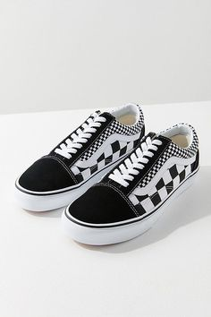 55f018229c Slide View  2  Vans Mix Checkerboard Old Skool Sneaker Black And White Vans