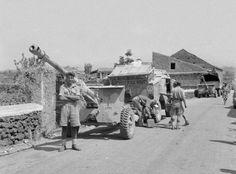 British 17 pdr anti tank gun - Medenine Tunisia 1943