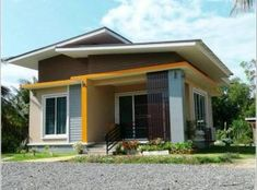 Stunning elevated three-bedroom bungalow - Pinoy House Plans Small House Floor Plans, Simple House Plans, Simple House Design, Bungalow House Plans, Bungalow House Design, Bungalow Homes, Best House Plans, Craftsman House Plans, Modern House Plans