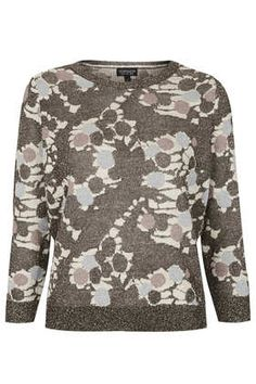 Knitted Bronze Printed top