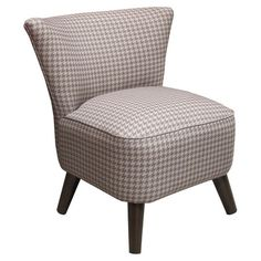Accent chair with houndstooth upholstery. Made in the USA.Product: ChairConstruction Material: Wood and fabric   ...