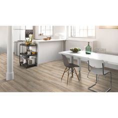 Vinyyli Parador Modular One Oak Pure Light Office Nook, Home Office Space, Wood Concrete, Kentucky, Sol Pvc, Grey Tiles, Wide Plank, White Oak, Solid Oak