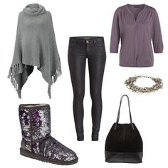 OneOutfitPerDay 2015-10-19 - #ootd #outfit #fashion #oneoutfitperday #fashionblogger #fashionbloggerde #frauenoutfit #herbstoutfit - Frauen Outfit Herbst Outfit Outfit des Tages Armband Bluse Cape Diesel Guess Handtasche Marc O'Polo Nümph Stiefel Ugg Australia UGG-Stiefel Zign