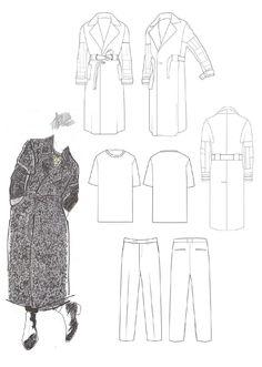Fashion Sketchbook - coat design, fashion illustration & flats; fashion portfolio // Lori Stayte