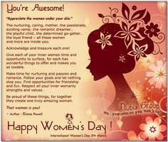 International Women's Day Quotes and Small Quotations About Women's Day Quotes For Women Day small quotations about women's day Share these lovely quotes on Strength of a Woman International Womens Day Poster, Happy International Women's Day, Women's Day 8 March, 8th Of March, Some Inspirational Quotes, Good Life Quotes, Motivational Quotes, Happy Womens Day Quotes, Women's Day Cards