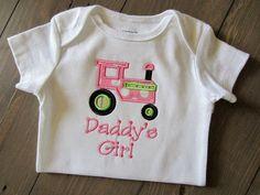 Daddys Girl Tractor Onesie