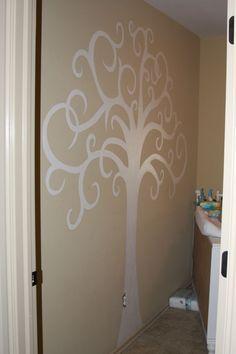 Family Tree Painting On Wall Playrooms 17 Ideas For 2019 Picture Wall, Picture Frames, Tree Wall Painting, Tree On Wall, Wall Murals, Wall Art, Tree Murals, Wall Vinyl, Wall Decor