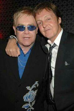 Sir Paul McCartney and Sir Elton John Elton Jon, Rock And Roll, My Love Paul Mccartney, Sir Paul, John Paul, Les Beatles, Billy Joel, Ringo Starr, George Harrison