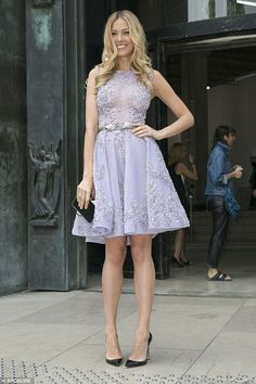 Style star: Petra Nemcova was seen making a glamorous appearance at the Zuhair Murad Haute...