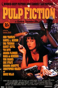 Pulp Fiction – Cover with Uma Thurman Movie Poster Posters at AllPosters.com