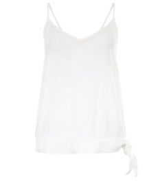 White Tie Side Strappy Cami  | New Look