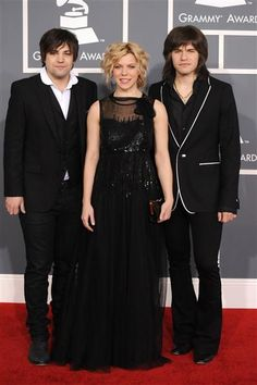 Neil Perry, Kimberly Perry and Reid Perry of The Band Perry arrive at the 54th Annual Grammy Awards at Staples Center in Los Angeles on Feb. 12, 2012.