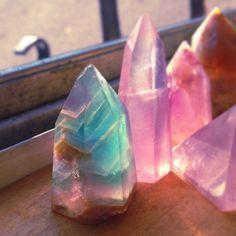 Gorgeous fluorite points