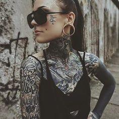The Berlin Wall ~ Monami Frost Monami Frost, Tattoo Girls, Girl Tattoos, Chris Garver, Hot Tattoos, Sleeve Tattoos, Borneo, Cheek Piercings, Dimple Piercing
