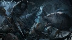 Meera and Summer Game of thrones Concept Art