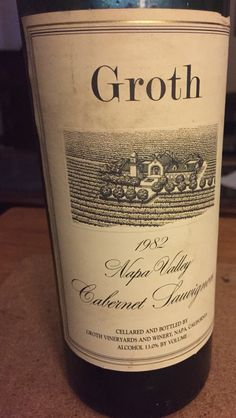 We asked our son to go and pick out a bottle of wine for tonight's dinner. I think he did a great job! After 33 years this cab was fabulous!