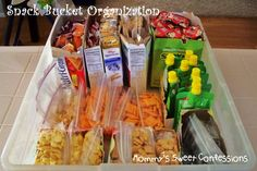 MOMMY'S SWEET CONFESSIONS: Snack Bucket Organization