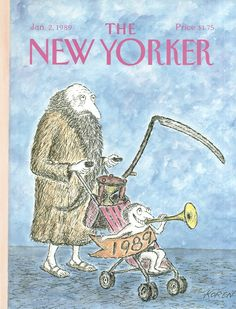 The New Yorker - Monday, January 2, 1989 - Issue # 3333 - Vol. 64 - N° 46 - Cover by : Edward Koren
