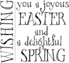 Verses Cling Mounted Rubber Stamp - Wishing Easter
