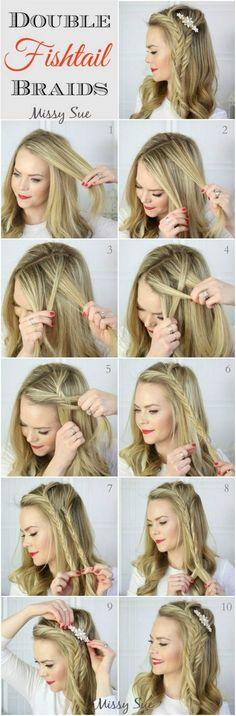 Acconciature capelli medi lisci fai da te