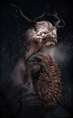 Lovecraftian demon I'd say. This one totally demented and belongs with my creepy, dark and macabre thangs