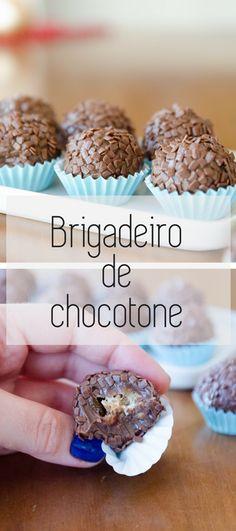 Brigadeiro caramelado recheado de chocotone! #chocotone #natal #receita #brigatone #brigadeiro #receitasdenatal
