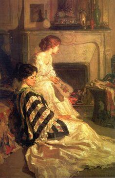 Carl Herpfer ~ By the Fireside