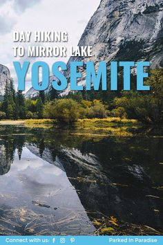 Mirror Lake is a short hike in Yosemite Valley National Park that kids of all ages can do. You'll see a great reflection of half dome in the water and there's plenty of spots to view wildlife and do photography. Things to do in yosemite include backpacking, climbing, hiking and camping. Stay in an rv motorhome or 5th wheel travel trailer right outside the park. Yosemite is the perfect adventure destination for #vanlife and diy campervan conversions.