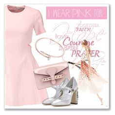 """""""I Wear Pink for..."""" by andrejae ❤ liked on Polyvore featuring Elizabeth and James, RED Valentino, Lela Rose, Cartier, Dolce&Gabbana and IWearPinkFor"""