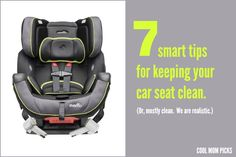 Smart tips for keeping your car seat clean and getting out stains...and smells