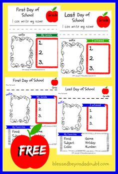 We love doing these every year! It's fun to compare the 2 printables!