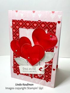 I love the From My Heart Suite found in the 2020 Mini Catalog, don't you? Here is my version of Stampin' Up!'s card found on page 8 of the . Valentine Love Cards, Valentines Day, Surprise Gifts, Free Items, Watercolor Paper, I Card, Cardmaking, Stampin Up, Projects