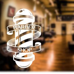 Barber Shop Wall Sticker scissors decal sign door art hair graphic bb4