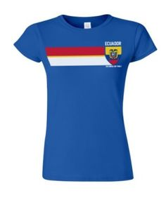 Ecuador Football World Cup Ladies Retro Vintage Strip T-Shirt available at http://www.world-cup-products-worldwide.com/ecuador-football-world-cup-ladies-retro-vintage-strip-t-shirt/