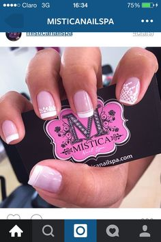 Pink Nails, My Nails, Cream Nails, Nail Art Stickers, Nail Decorations, Manicure And Pedicure, Nail Care, Opi, Nail Art Designs