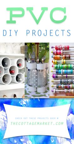PVC DIY Projects - The Cottage Market #PVCDIYProjects, #PVCPipeProjects, #PVCPipeDIYProjects