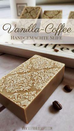 Vanilla Coffee - Handmade Coffee Soap making . Handmade Soap Recipes, Handmade Soaps, Diy Beauté, Coffee Soap, Soap Maker, Handmade Cosmetics, Soap Packaging, Lotion Bars, Cold Process Soap