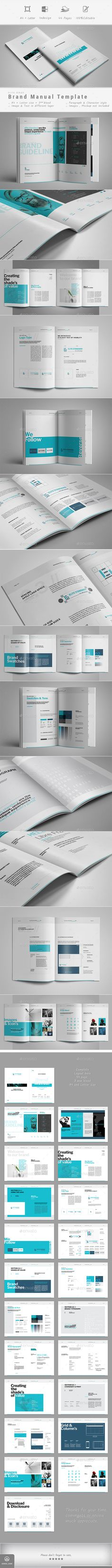Corporate Business Brochure 20 Pages A4 Template InDesign INDD - manual templates