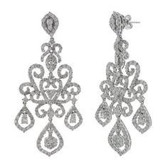 Designer Jewelry Chandelier Emerald Earrings W Diamonds 6 44ct 10 58 Emeralds And Diamond