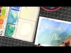 Speed watercoloring + lettering - video