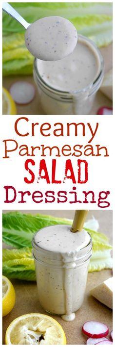Creamy Parmesan Salad Dressing from NoblePig.com.