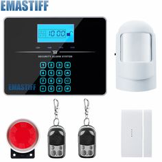 Voice Prompt Wireless door sensor Home Security system alarm LCD Display Wired Siren Kit SIM SMS GSM burglar Alarm for your home * AliExpress Affiliate's Pin.  Click the VISIT button for detailed description on AliExpress website