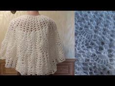 Шаль - накидка из ангорки для невест и просто красавиц - YouTube Knitting Stiches, Knitting Patterns, Crochet Top, Pullover, Blanket, Elsa, Sweaters, Youtube, Women